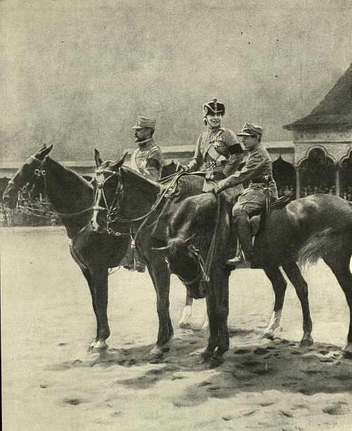 Regele Ferdinand, regina Maria si principele Nicolae