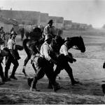 Soldati romani in mars dupa trecerea Nistrului