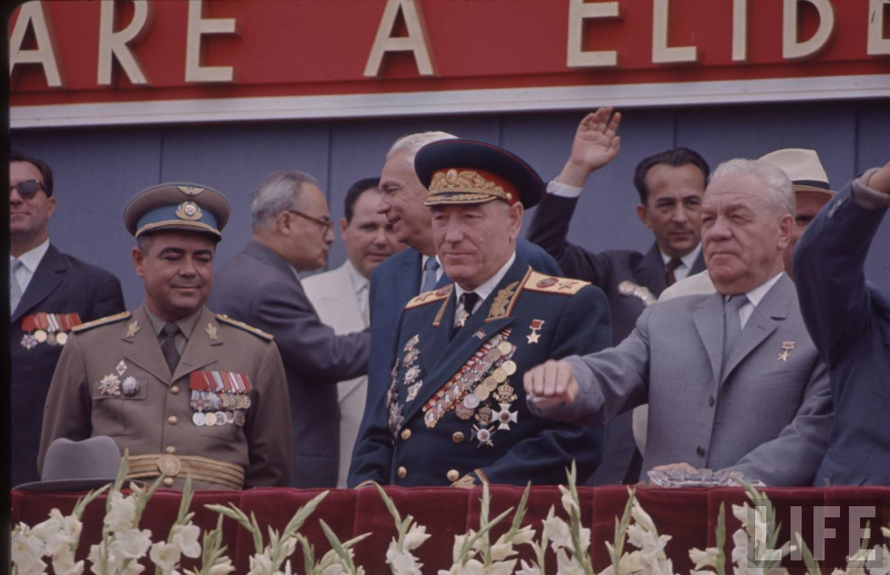 Un mareşal sovietic la defilarea din Bucureşti de 23 august 1964