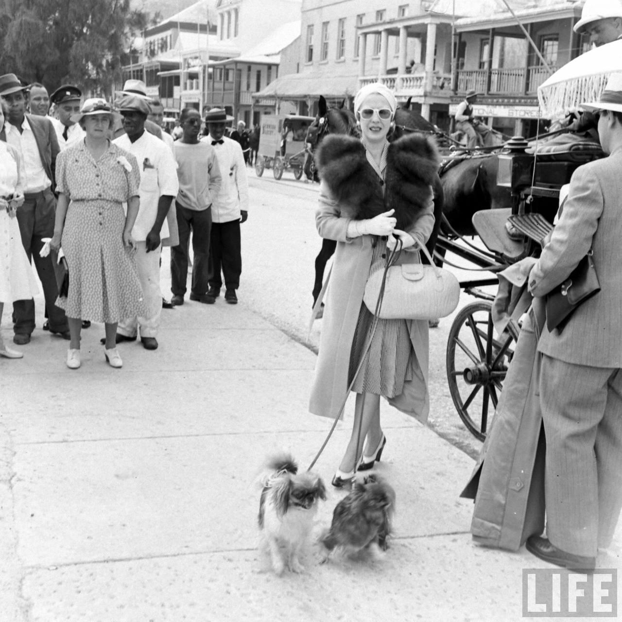 Elena Lupescu in Bermuda, 1941