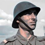 Sergent roman in Transnistria 1942 foto color
