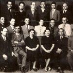 1939 - Nicolae Ceausescu intr-un grup de UTC-isti, primul din dreapta pe al doilea rand Fototeca online a comunismului românesc 1-1939