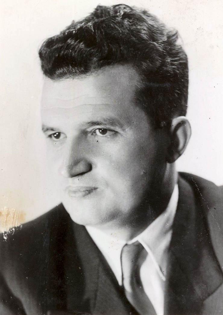 1956 - Portret Nicolae Ceauşescu Fototeca online a comunismului românesc cota 16-1956