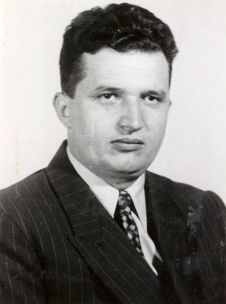 1956 - Portret Nicolae Ceauşescu Fototeca online a comunismului românesc cota 19-1956