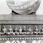 1960 - Nicolae Ceauşescu în dreapta lui Gheorghe Gheorghiu Dej la tribuna de 1 mai Fototeca online a comunismului românesc