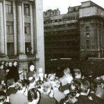 1968 - Nicolae Ceauşescu îşi ţine discursul prin care condamnă invazia sovietică din Cehoslovacia Fototeca online a comunismului românesc