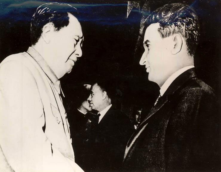 1971 - Nicolae Ceauşescu şi Mao Ze Dong Fototeca online a comunismului românesc