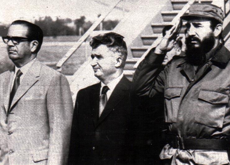1973 - Nicolae Ceauşescu în Cuba alături de Fidel Castro Fototeca online a comunismului românesc