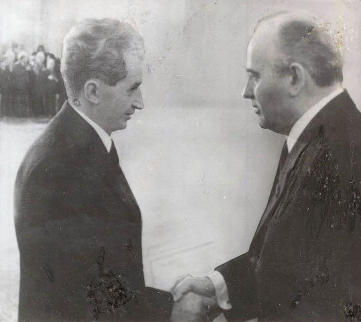 1985 - Nicolae Ceauşescu se întâlneşte la Moscova cu Mihail Gorbaciov Fototeca online a comunismului românesc
