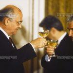1989 - Nicolae Ceauşescu şi Mihail Gorbaciov la Bucureşti Sursa World Press Photo Archive