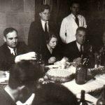 Gheorghe Gheorghiu Dej, Ana Pauker şi Emil Bodnăraş la recepţia care a avut loc cu prilejul încheierii lucrărilor Conferinţei Naţionale a P.C.R. (17- 21 octombrie1945) Fototeca Comunismului Românesc cota258/1945
