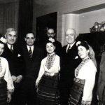 Gheorghe Gheorghiu Dej, Petru Groza, Traian Săvulescu, S. I. Kavtaradze, Ana Pauker la ceaiul de la ambasada Bulgariei, cu prilejul săptămânii prieteniei româno-bulgare. (7 martie 1950) Fototeca Comunismului Românesc cota 10(15)/1950