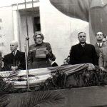 Ana Pauker ţine un discurs cu prilejul sărbătoririi zilei internaţionale a femeii. (8 martie 1950) Fototeca Comunismului Românesc cota 23/1950