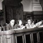 Petru Groza, Gheorghe Gheorghiu Dej, Ana Pauker, Vasile Luca participă la Sesiunea Marii Adunări Naţionale, unde s-a discutat şi votat proiectul de lege al Codului Muncii. (29 mai 1950) Fototeca Comunismului Românesc cota 42(31)/1950