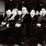 Ana Pauker, la Adunarea festivă din sala Teatrului Muncitoresc C.F.R. Giuleşti cu prilejul celei de-a 33-a aniversări a Armatei Sovietice. (23.02.1951). Fototeca Comunismului Românesc cota 3/1951