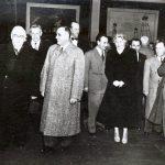 """Ana Pauker, vizitând expoziţia """"Aspecte din construirea comunismului în U.R.S.S."""" (pavilionul din Bd. G-ral Magheru). (5.11.1951). Fototeca Comunismului Românesc cota 146/1951"""