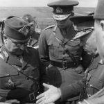 1941 mareşalul Ion Antonescu pe frontul de est împreună cu regele Mihai