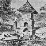 Fântână lângă mănăstirea Argeşului la 1860