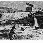 Bordei din Câmpia Dunării la 1860