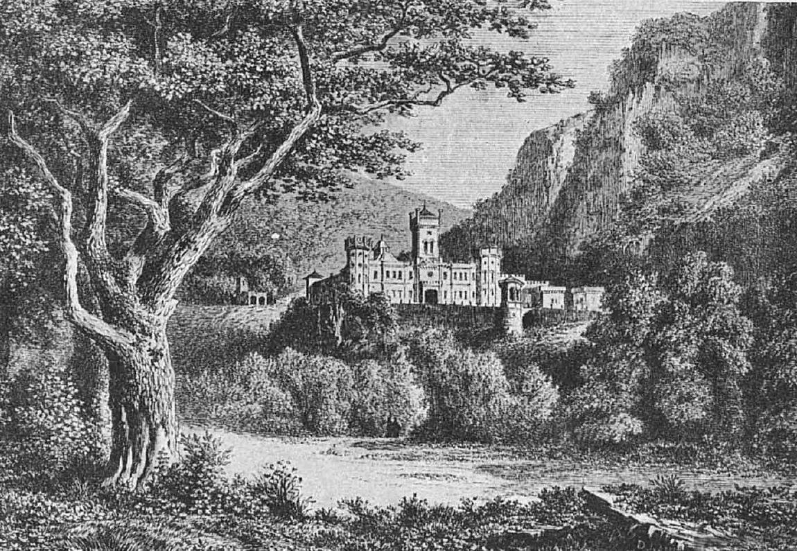 Mănăstirea Tismana în 1860