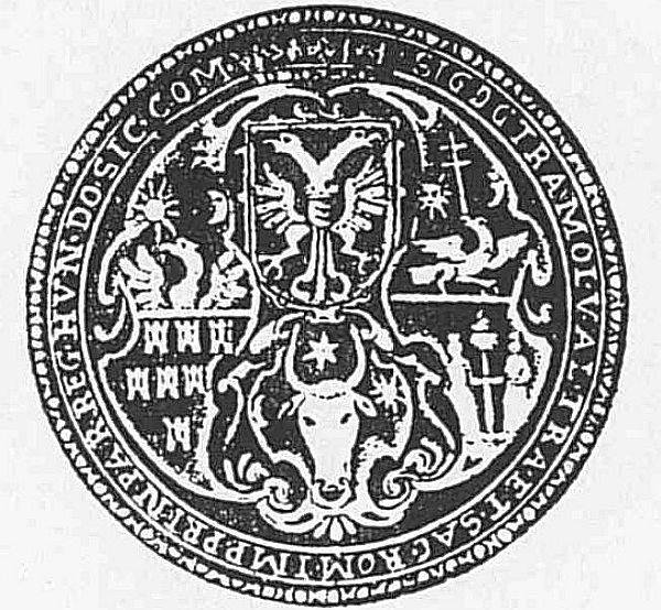 Stema lui Sigismund Bathory in 1595